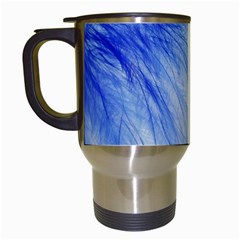 Spring Blue Colored Travel Mugs (white)
