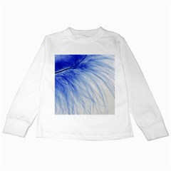 Spring Blue Colored Kids Long Sleeve T Shirts