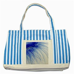 Spring Blue Colored Striped Blue Tote Bag