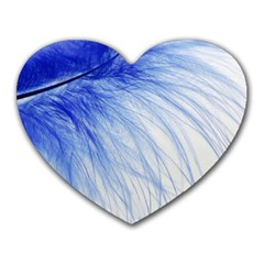 Spring Blue Colored Heart Mousepads