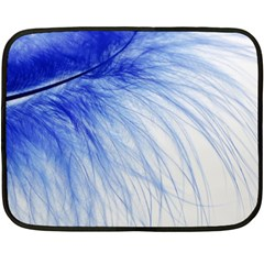 Spring Blue Colored Fleece Blanket (mini)