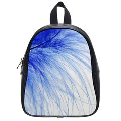 Spring Blue Colored School Bag (small) by Celenk