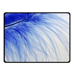 Spring Blue Colored Fleece Blanket (small)
