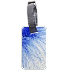Spring Blue Colored Luggage Tags (two Sides)