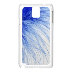 Spring Blue Colored Samsung Galaxy Note 3 N9005 Case (white)