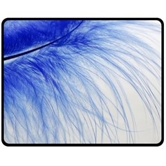Spring Blue Colored Double Sided Fleece Blanket (medium)
