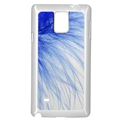 Spring Blue Colored Samsung Galaxy Note 4 Case (white)