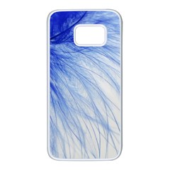 Spring Blue Colored Samsung Galaxy S7 White Seamless Case