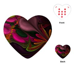 Fractal Abstract Colorful Floral Playing Cards (heart)  by Celenk