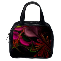 Fractal Abstract Colorful Floral Classic Handbags (one Side) by Celenk