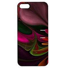 Fractal Abstract Colorful Floral Apple Iphone 5 Hardshell Case With Stand