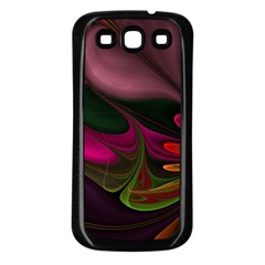 Fractal Abstract Colorful Floral Samsung Galaxy S3 Back Case (black)