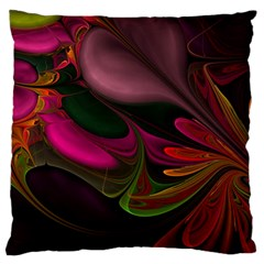 Fractal Abstract Colorful Floral Standard Flano Cushion Case (one Side)