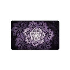Fractal Floral Striped Lavender Magnet (name Card)