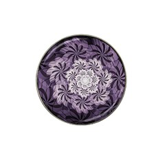 Fractal Floral Striped Lavender Hat Clip Ball Marker (10 Pack) by Celenk