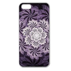 Fractal Floral Striped Lavender Apple Seamless Iphone 5 Case (clear)