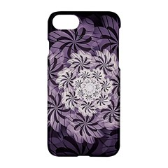 Fractal Floral Striped Lavender Apple Iphone 8 Hardshell Case
