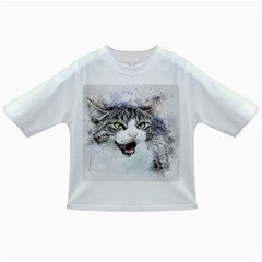Cat Pet Art Abstract Watercolor Infant/toddler T Shirts