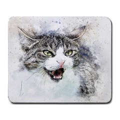 Cat Pet Art Abstract Watercolor Large Mousepads