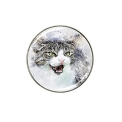 Cat Pet Art Abstract Watercolor Hat Clip Ball Marker