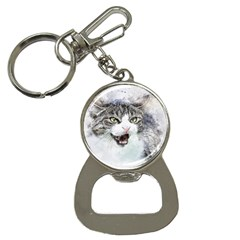Cat Pet Art Abstract Watercolor Button Necklaces