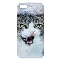 Cat Pet Art Abstract Watercolor Iphone 5s/ Se Premium Hardshell Case