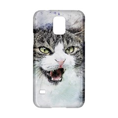 Cat Pet Art Abstract Watercolor Samsung Galaxy S5 Hardshell Case