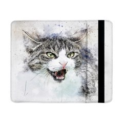 Cat Pet Art Abstract Watercolor Samsung Galaxy Tab Pro 8 4  Flip Case
