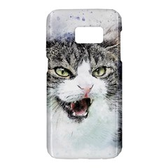 Cat Pet Art Abstract Watercolor Samsung Galaxy S7 Hardshell Case