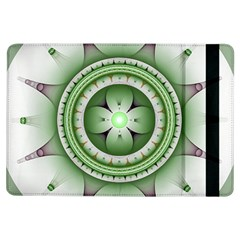 Fractal Mandala Green Purple Ipad Air Flip