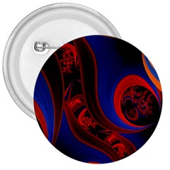 Fractal Abstract Pattern Circles 3  Buttons
