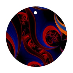Fractal Abstract Pattern Circles Ornament (round)