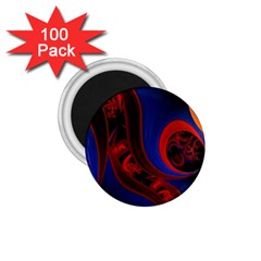 Fractal Abstract Pattern Circles 1 75  Magnets (100 Pack)  by Celenk
