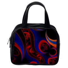 Fractal Abstract Pattern Circles Classic Handbags (one Side) by Celenk