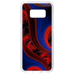 Fractal Abstract Pattern Circles Samsung Galaxy S8 White Seamless Case