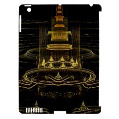 Fractal City Geometry Lights Night Apple Ipad 3/4 Hardshell Case (compatible With Smart Cover) by Celenk