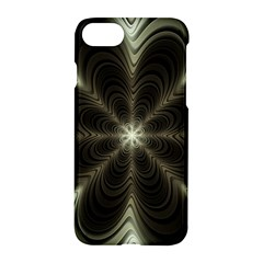 Fractal Silver Waves Texture Apple Iphone 8 Hardshell Case