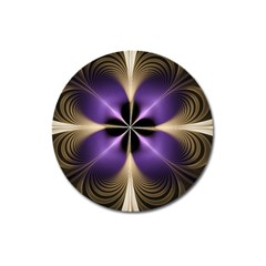 Fractal Glow Flowing Fantasy Magnet 3  (round) by Celenk