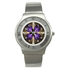 Fractal Glow Flowing Fantasy Stainless Steel Watch