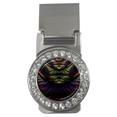 Fractal Colorful Pattern Fantasy Money Clips (cz)  by Celenk