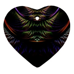 Fractal Colorful Pattern Fantasy Heart Ornament (two Sides)