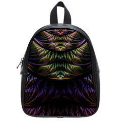 Fractal Colorful Pattern Fantasy School Bag (small)