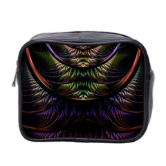 Fractal Colorful Pattern Fantasy Mini Toiletries Bag 2 Side by Celenk
