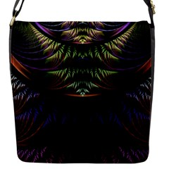 Fractal Colorful Pattern Fantasy Flap Messenger Bag (s)