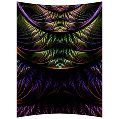 Fractal Colorful Pattern Fantasy Back Support Cushion by Celenk