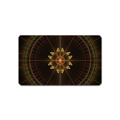 Fractal Floral Mandala Abstract Magnet (name Card)