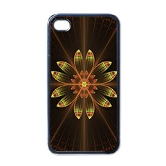 Fractal Floral Mandala Abstract Apple Iphone 4 Case (black)
