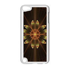 Fractal Floral Mandala Abstract Apple Ipod Touch 5 Case (white) by Celenk