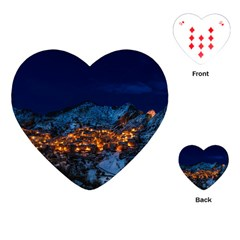 Castelmezzano Italy Village Town Playing Cards (heart)