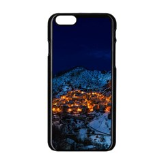 Castelmezzano Italy Village Town Apple Iphone 6/6s Black Enamel Case